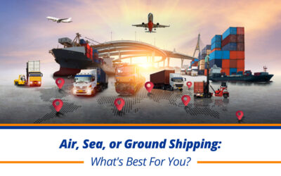 Air, Sea, or Ground Shipping: What's Best For You?